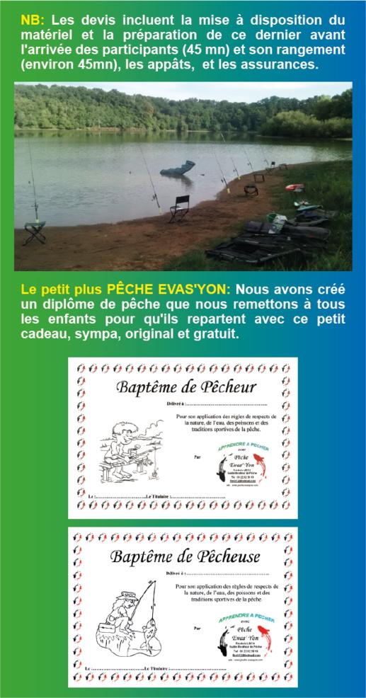 Animations Pêche, en Vendée, pour Centre de Loisirs