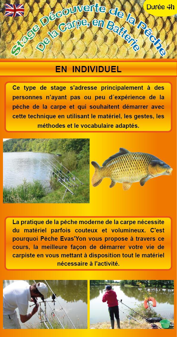 Stage Découverte de la Pêche de la Carpe, en Batterie