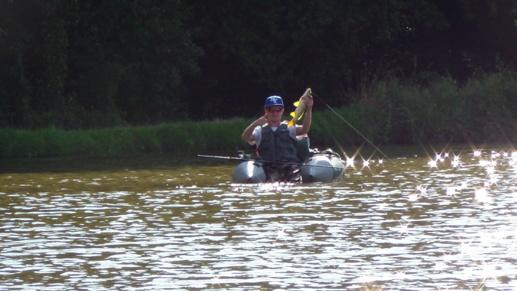 Pêche des Carpeaux depuis Flaot-Tube