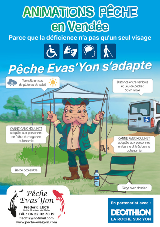 Animations Pêche Adaptée en Vendée