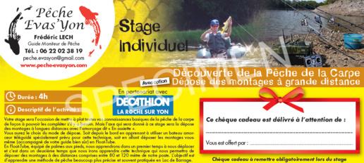 Offrez un Stage de Pêche en Vendée en Chèque Cadeaux