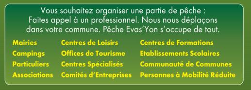 Animations, Cours et Stages de Pêche en Vendée, pour tous.