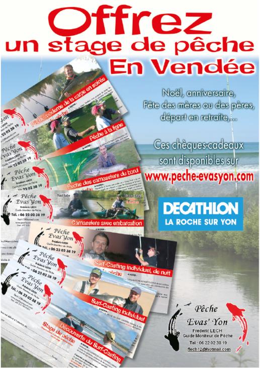 Offrir un Stage de Pêche en Chèque Cadeau en Vendée