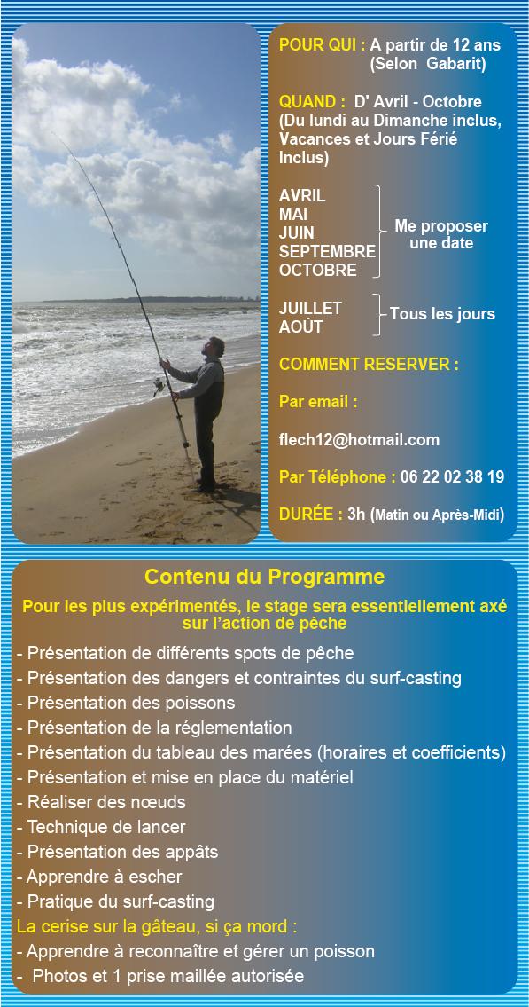 Stage Découverte du Surf-Casting en Vendée, en Individuel