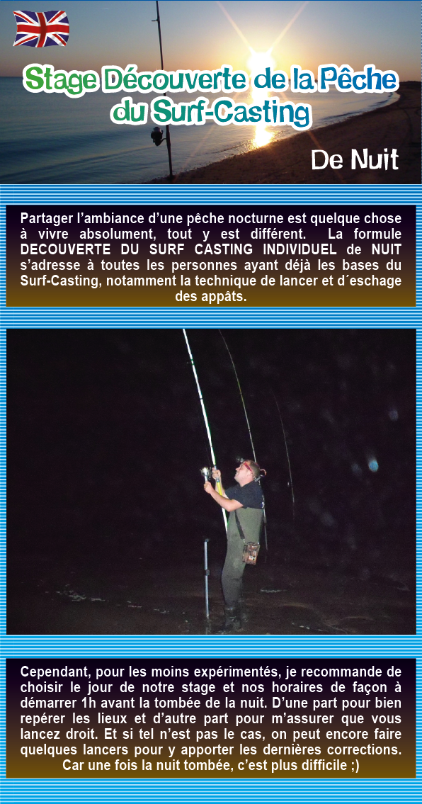 Stage Découverte du Surf-Casting en Vendée, de Nuit