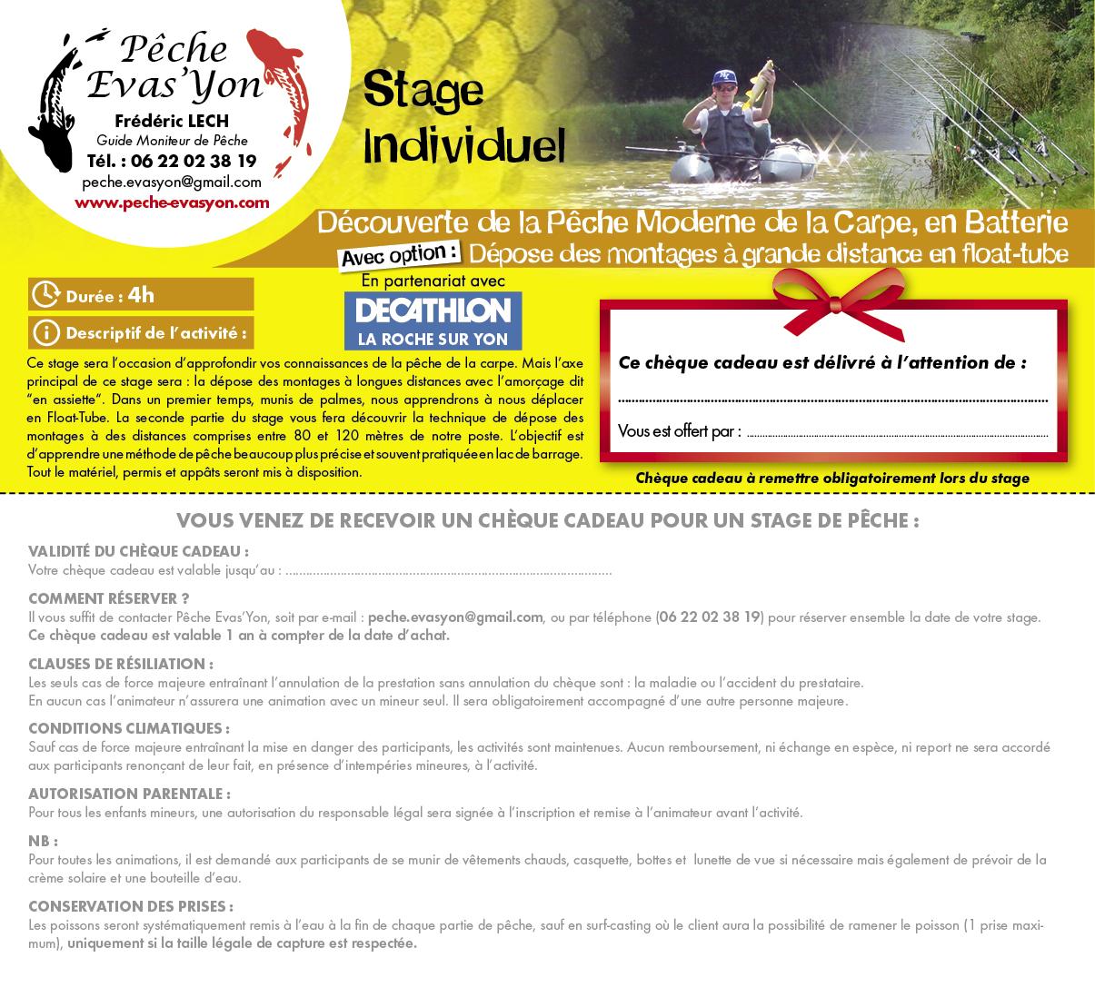Stage Découverte de la Pêche de la Carpe en Batterie avec Option Dépose des Montages à Grandes Distances, en Vendée