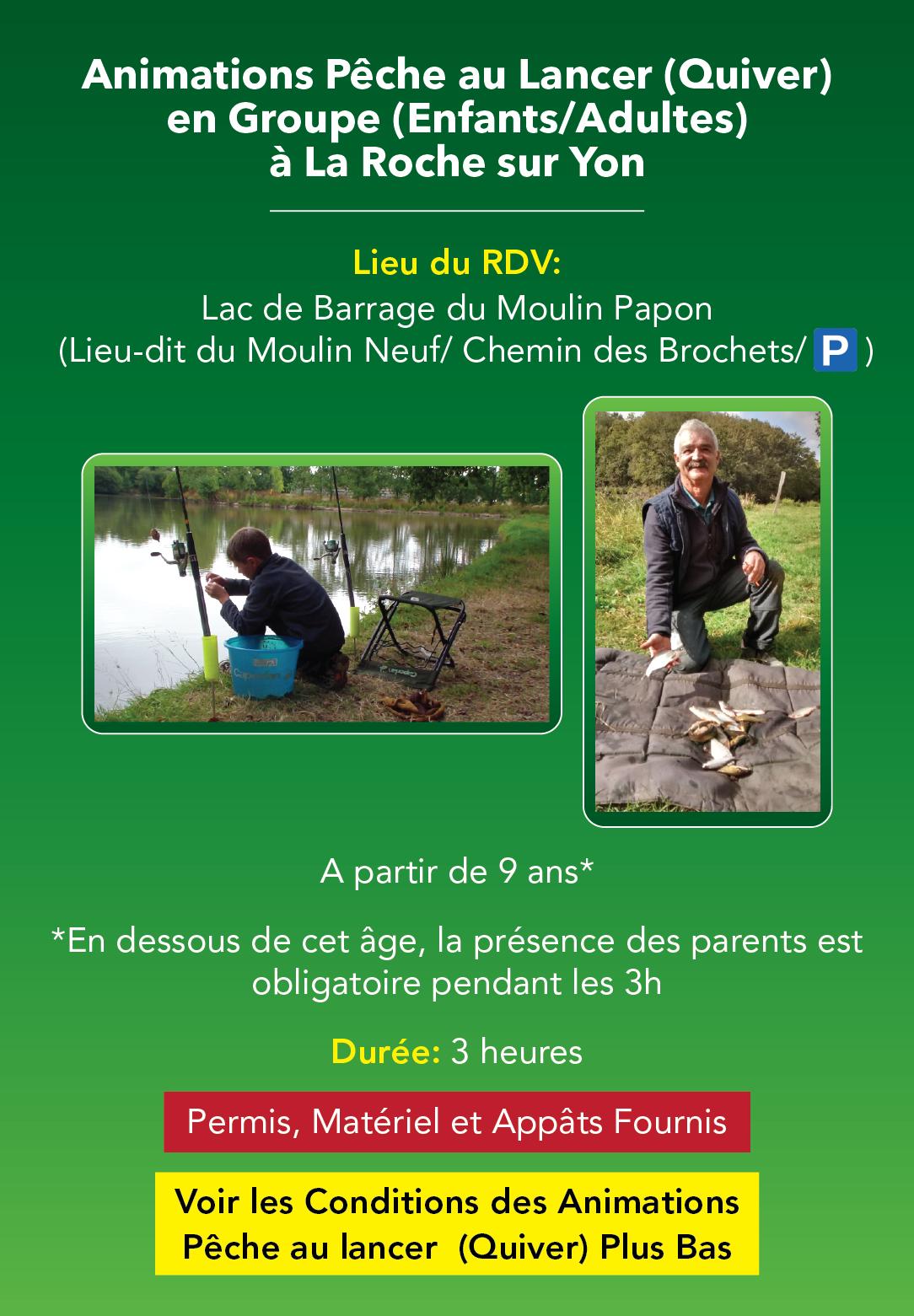 Animations Pêche au Lancer en Groupe, en Vendée